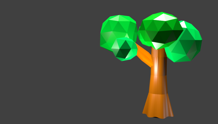 Low poly tree for free use