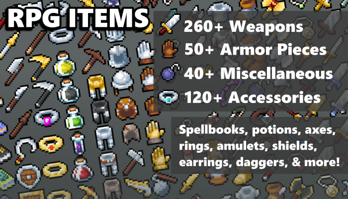 16×16 Fantasy RPG Items
