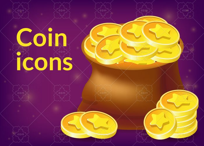 Moneybag and Coin icons