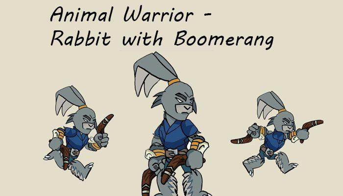 Rabbit with Boomerang