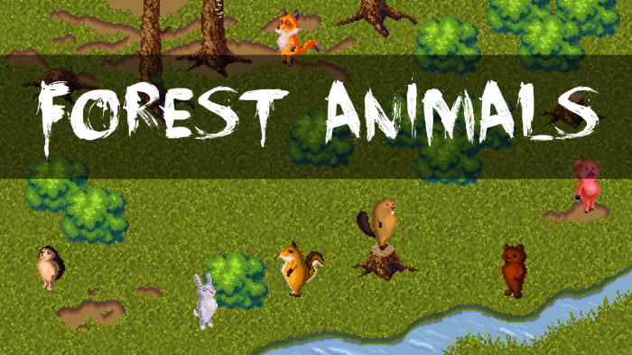 Forest Animals + Location Sprites