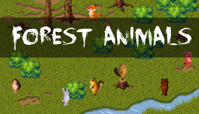 Forest Animals + Location Sprites