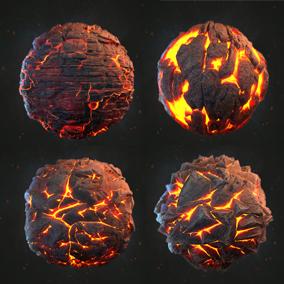 Magma_land 7 PBR materials