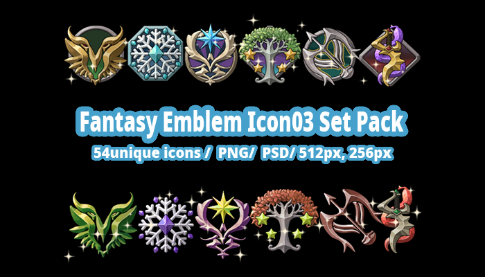 Fantasy Emblem Icon03 Set Pack