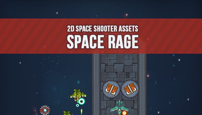2D Space Shooter Assets – 'Space Rage'