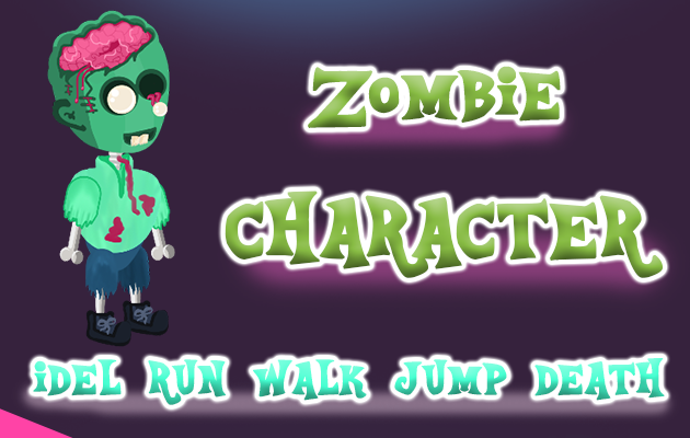 2D Game Zombie Character