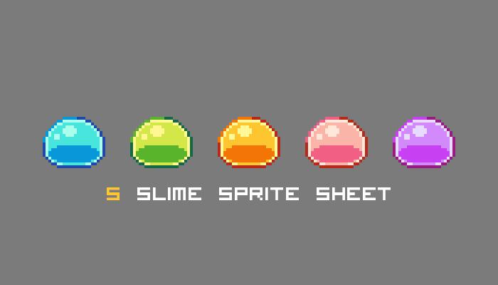 5 slime sprite sheet