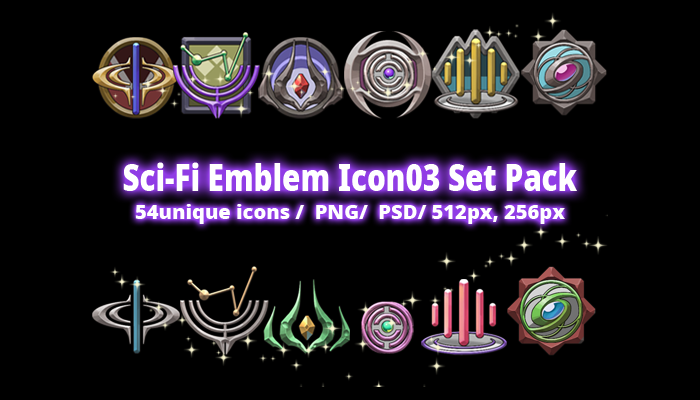 Sci-Fi Emblem Icon03 Set Pack