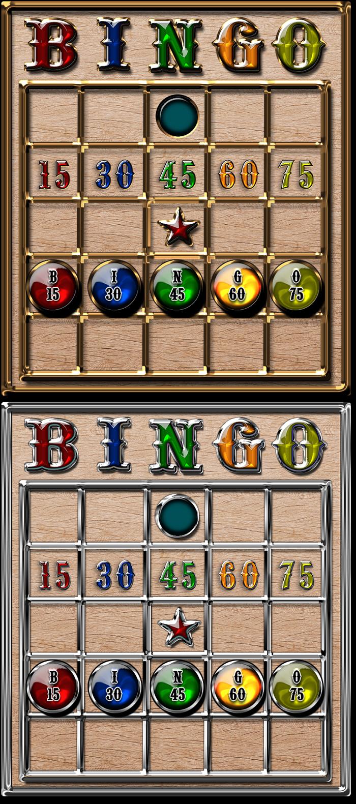 Wood Silver Gold & Gems Bingo