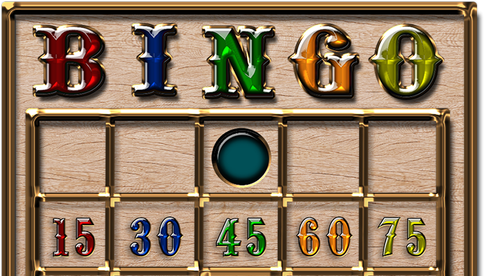 Wood Silver Gold & Gems Bingo