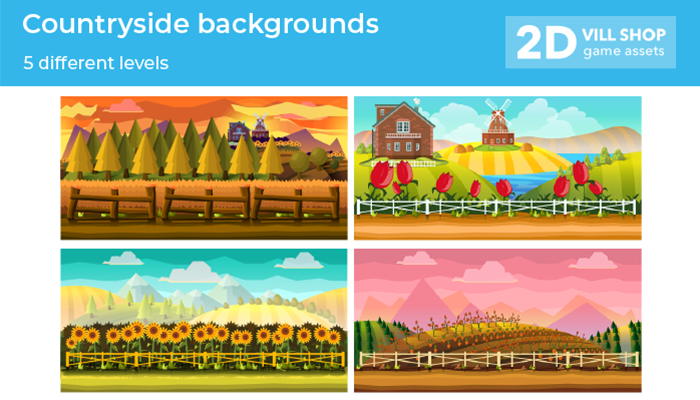 5 Farm Game Backgrounds