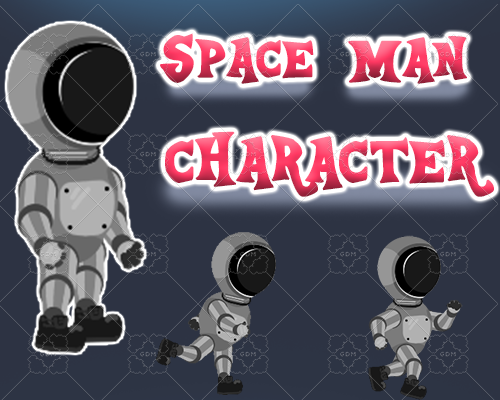 Space Man 2D Character