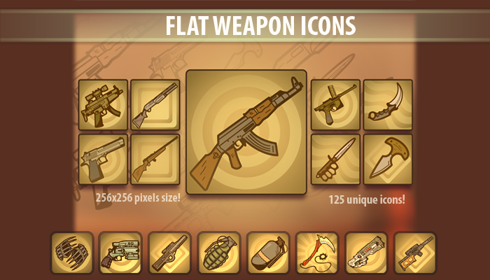 Flat Weapon Icons