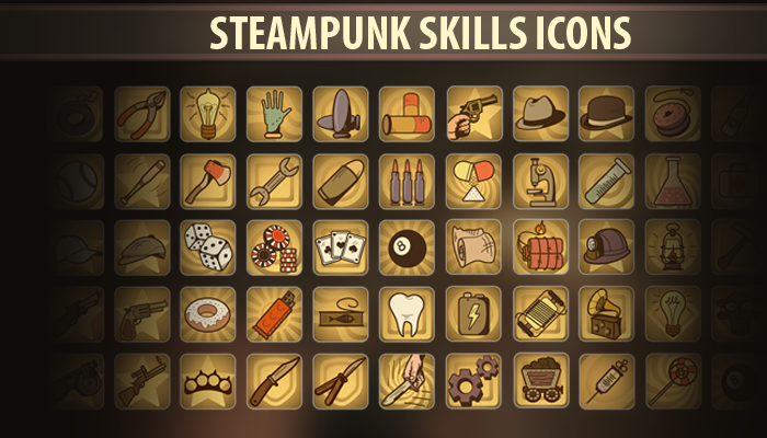 Steampunk Skills Icons