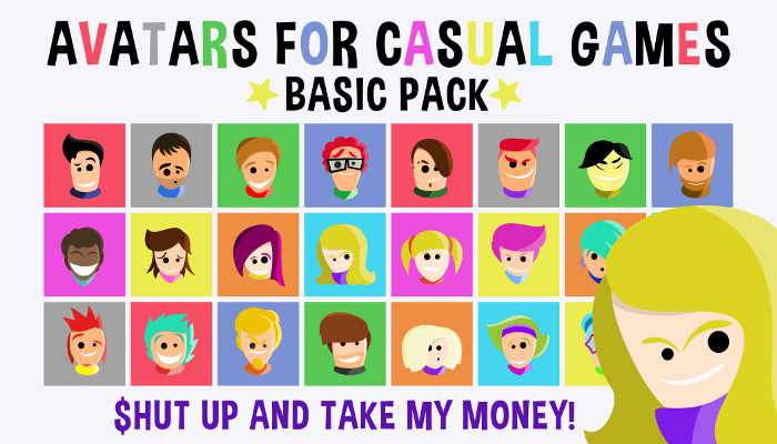 Avatars For Casual Games – Basic Pack