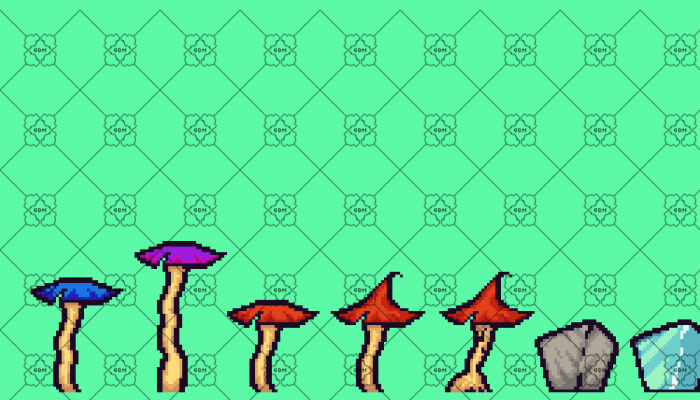 TileSet and objects for platform games in pixel art