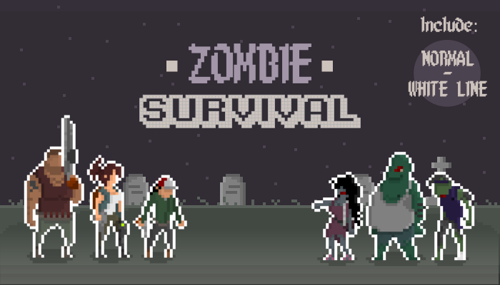 ZOMBIE SURVIVAL PIXEL ART