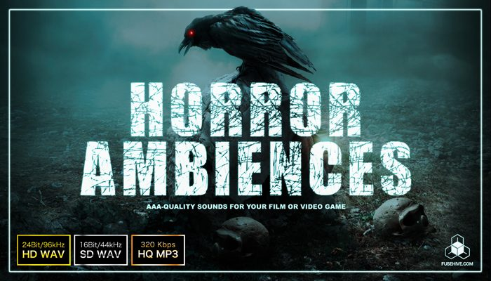 HORROR AMBIENCES – Scary Creepy Background Sound Effects Library – Spooky Halloween Environment Loops