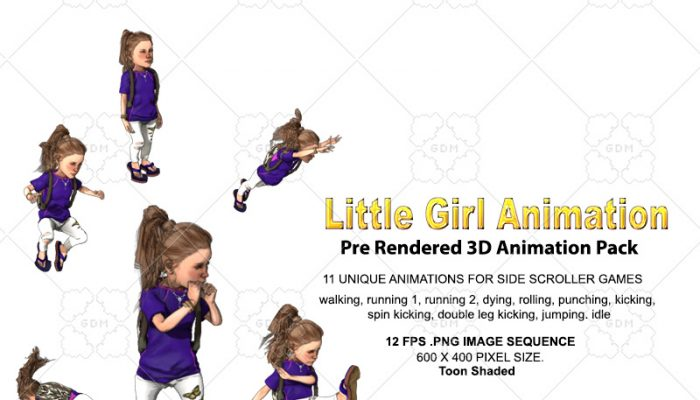 Little Girl Animation pack