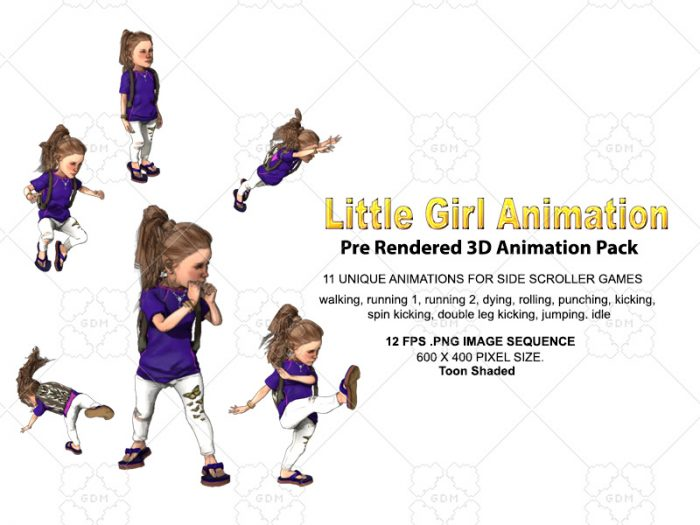 Little Girl Animation pack