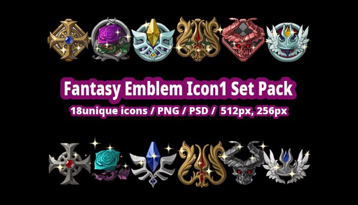 Fantasy Emblem Icon1 Set Pack