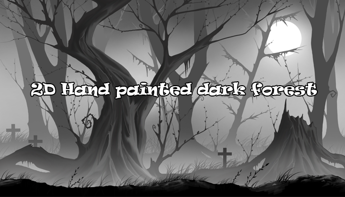 2D Hand Painted Dark Forest