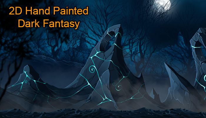 2D Hand Painted Dark Fantasy