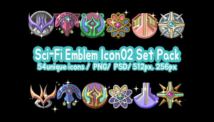 Sci-Fi Emblem Icon02 Set Pack