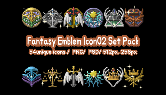 Fantasy Emblem Icon02 Set Pack