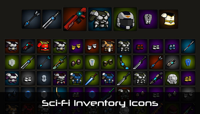 Sci-Fi Inventory Icons