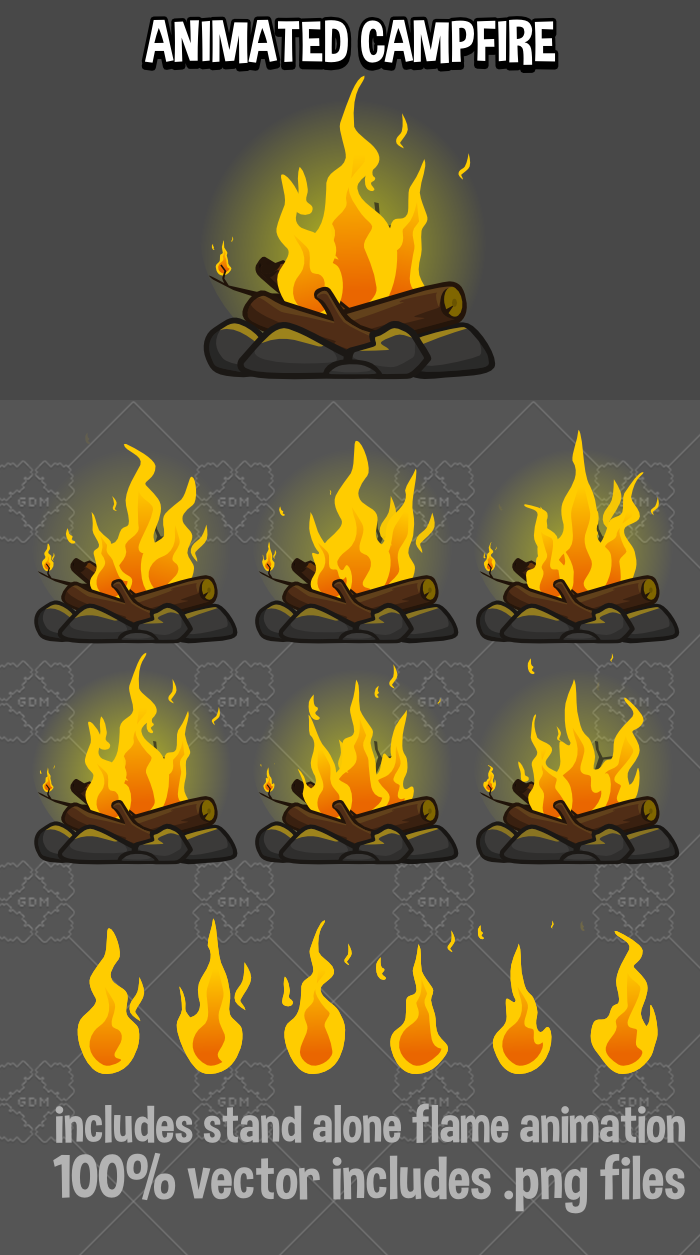 Animated campfire