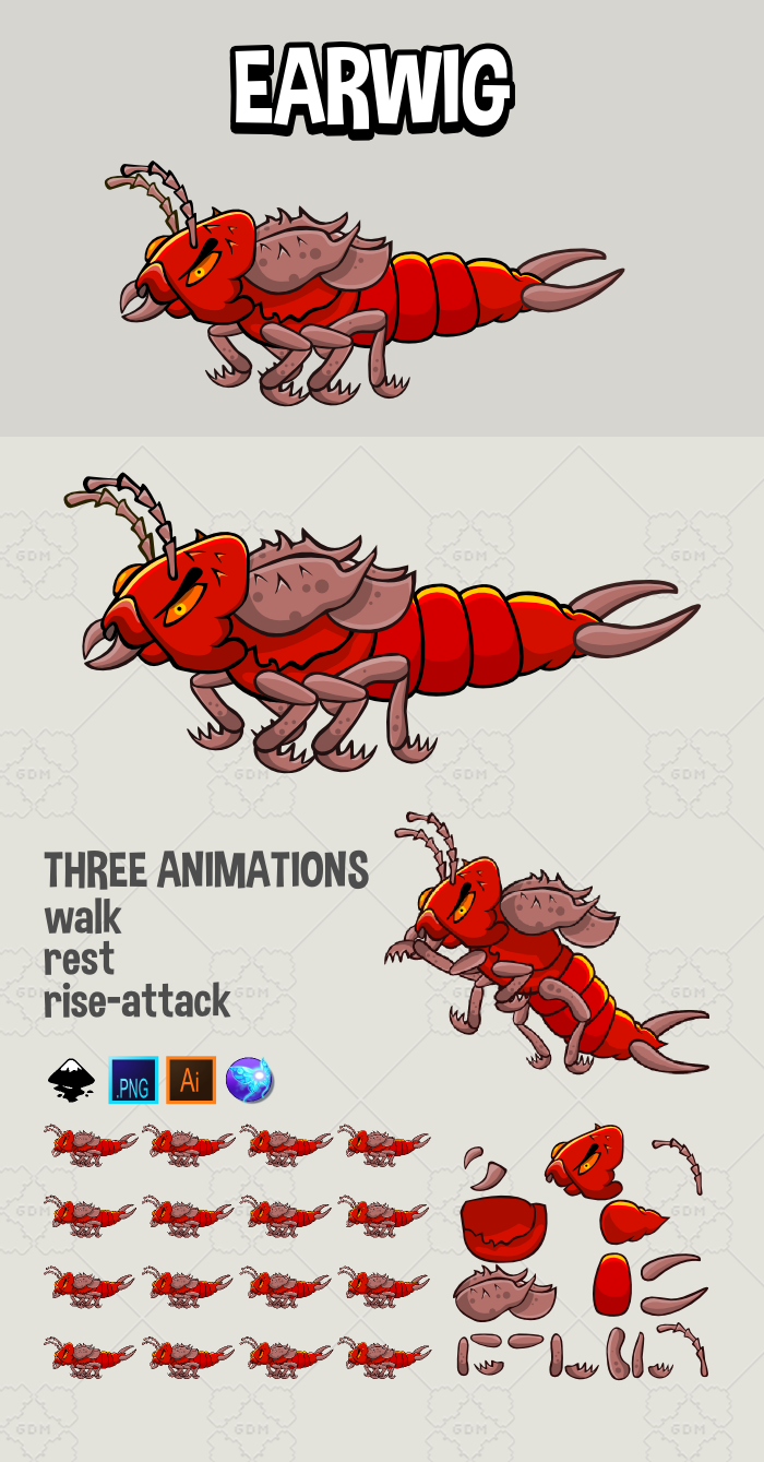 Animated earwig