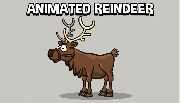 Animated reindeer