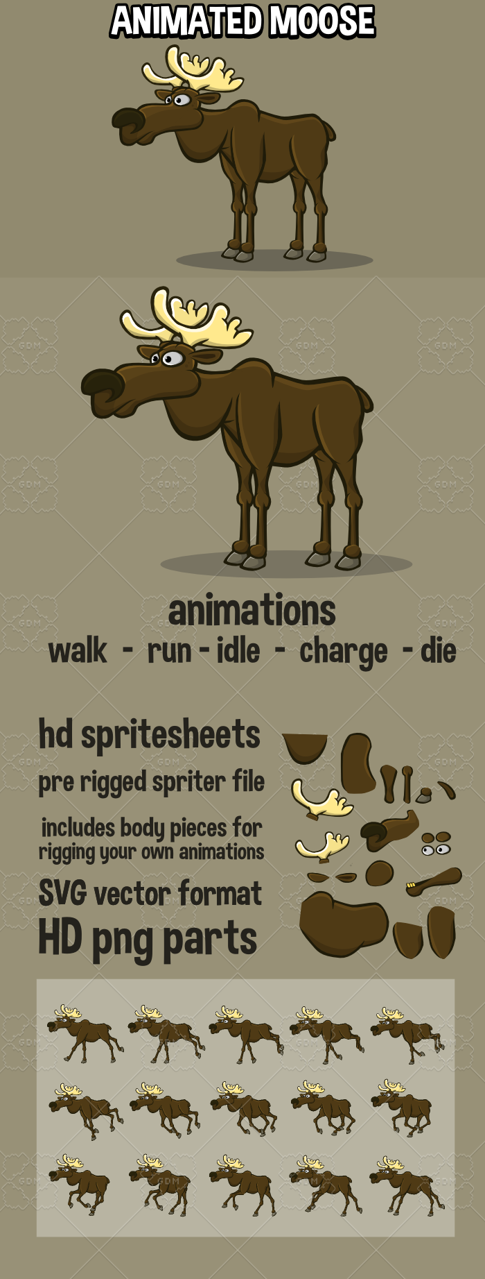 Animated moose