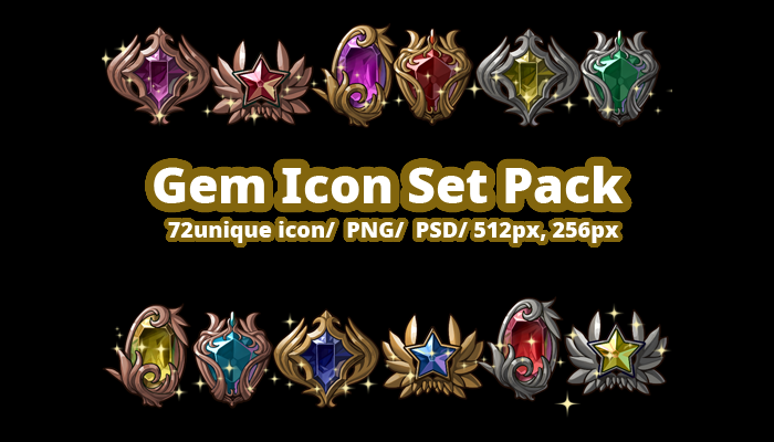 Gem Icon set pack