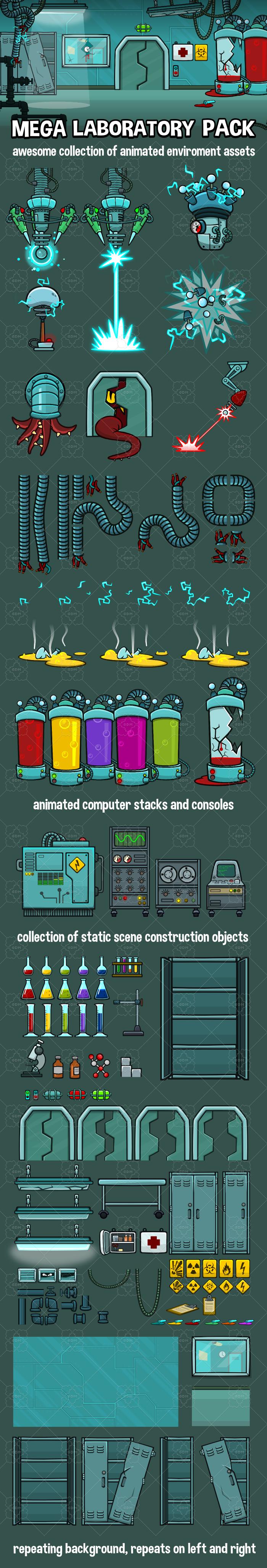 Mega laboratory scene creation kit