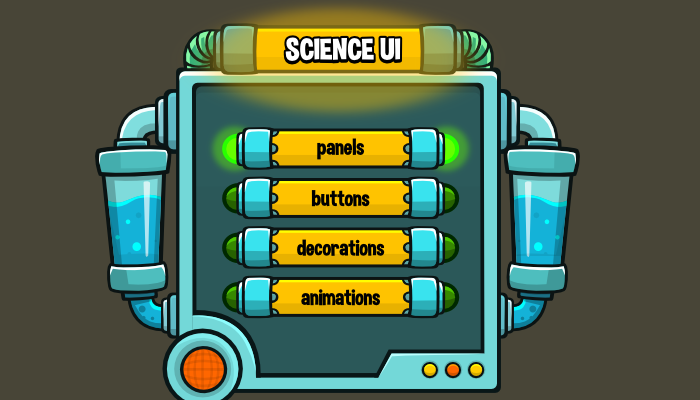 Science themed game user interface