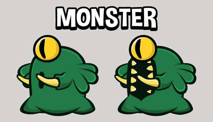 Animated monster 2d game sprite