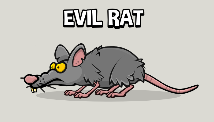 Evil animated rat
