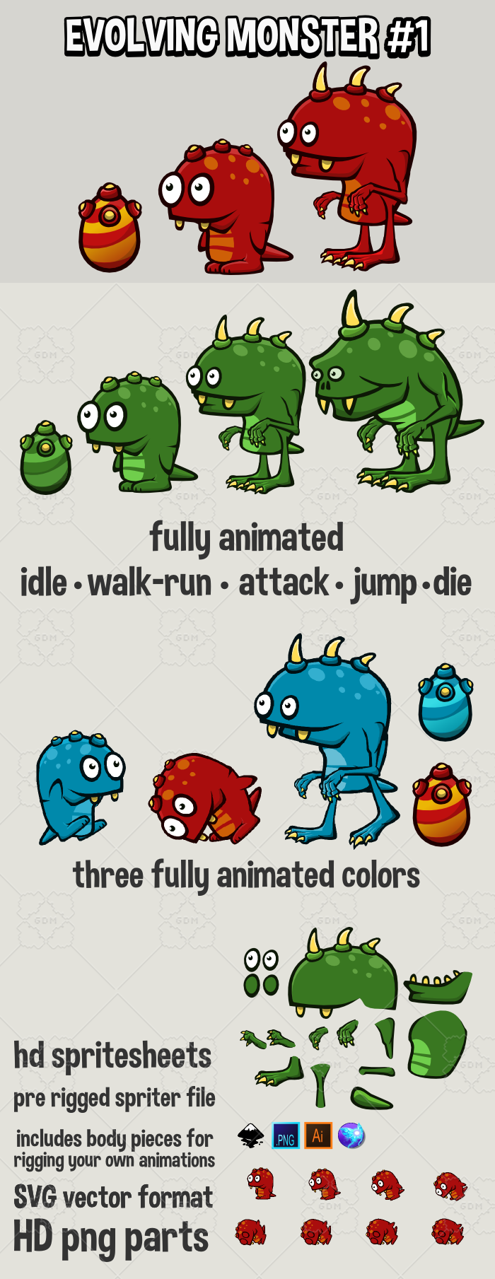 Evolving monster 1