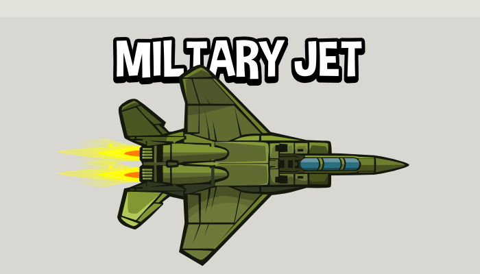 Military jet fighter