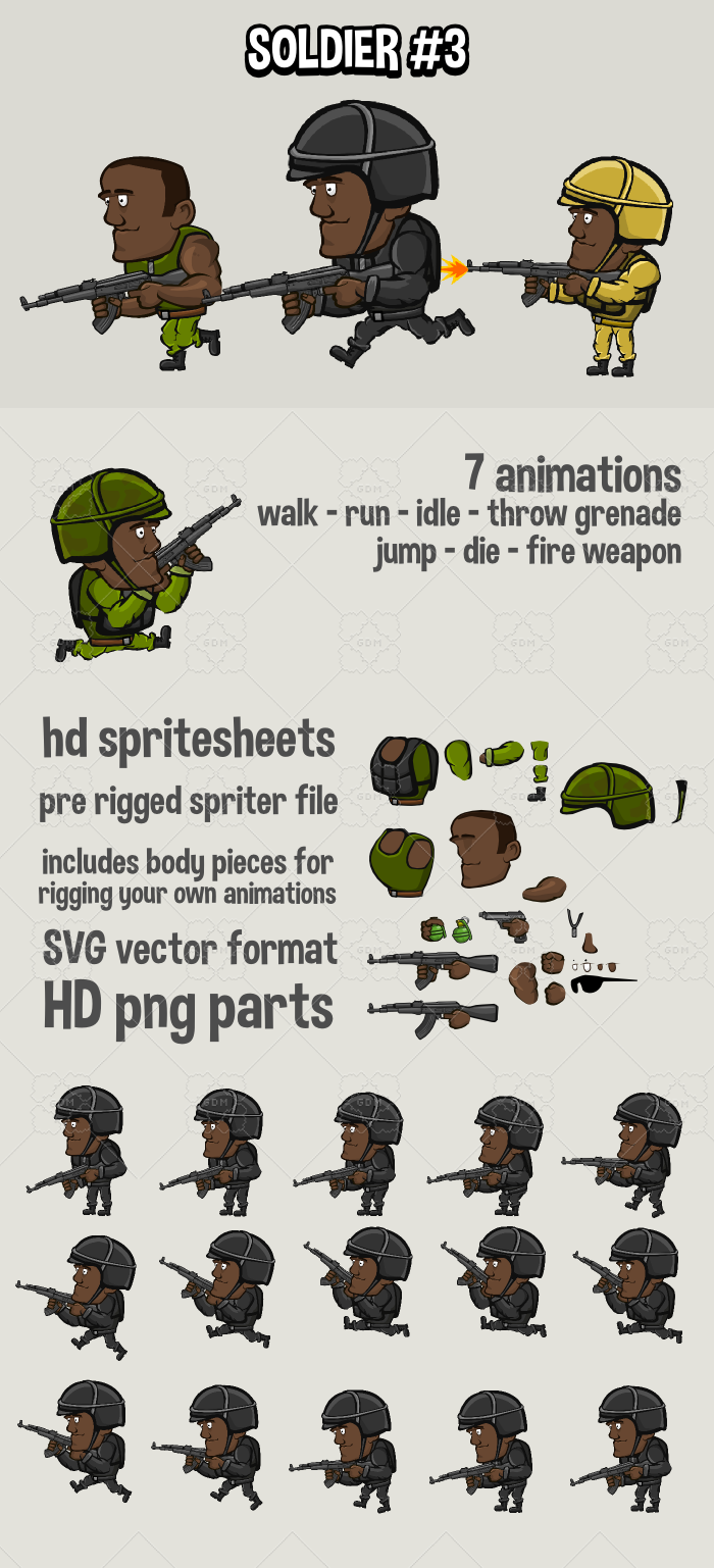 Animated soldier 3