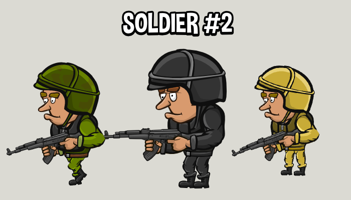 Animated soldier 2