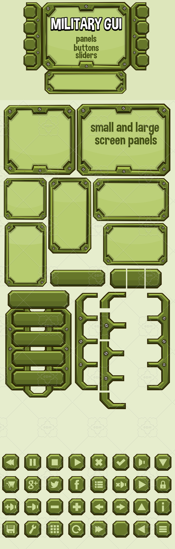 Military user interface panels