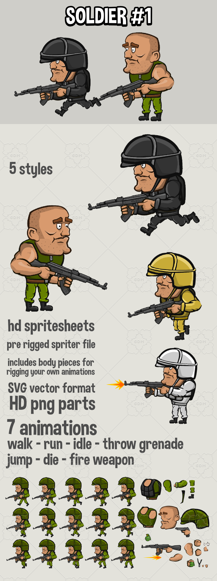Animated soldier 1