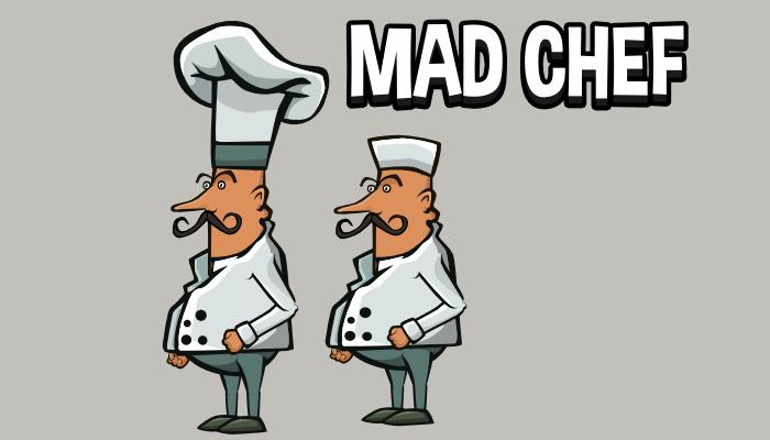 Animated mad chef