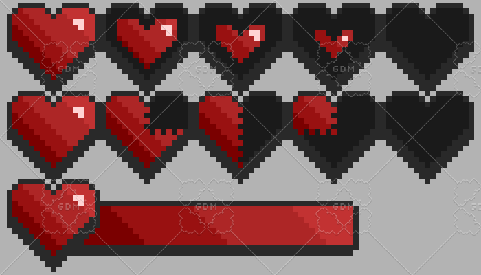 Heart and health bar