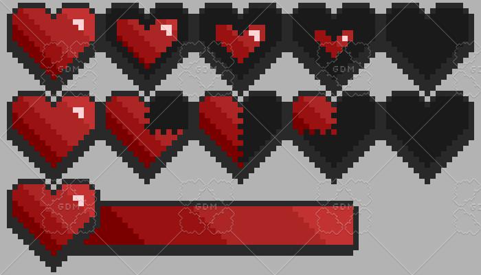 Heart and health bar