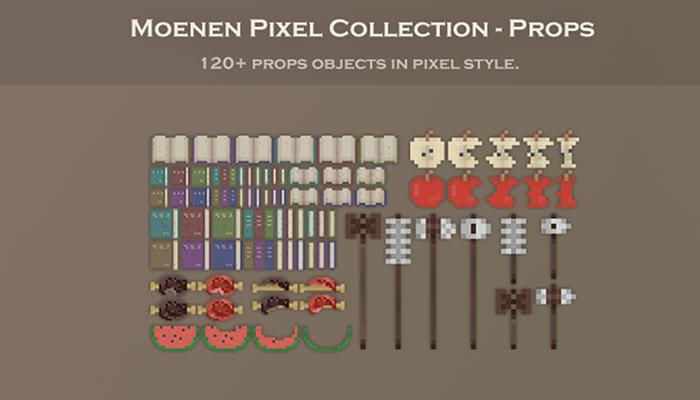 Moenen Pixel Collection – Props