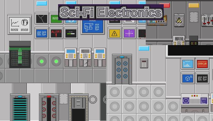 Sci-Fi Electronics (2D Pixel Art)